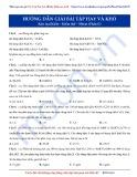 Luyện thi Đại học môn Hóa: Hướng dẫn giải bài tập hay và khó - Kim loại kiềm-kiềm thổ-nhôm (Phần 2)