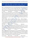 Luyện thi Đại học môn Hóa: Nâng cao-Phương pháp giải bài toán nhiệt nhôm