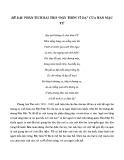 Phân tích bài thơ Đây thôn Vĩ Dạ - Hàn Mặc Tử