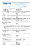 Chuyên đề LTĐH môn Hóa học: Ôn tập kim loại kiềm-kiềm thổ-nhôm (Đề 1)