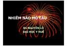 Bài giảng Nhiễm não mô cầu - BS. Nguyễn Lô