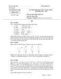 Kỳ thi chọn HSG lớp 12 vòng Tỉnh năm học 2011 - 2012 môn Hóa học ngày 6/11/2011 (Bảng A)