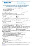 Chuyên đề LTĐH môn Sinh học: Ứng dụng di truyền vào chọn giống (Đề 4)