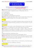 Luyện thi ĐH môn Toán: Bài toán về xác suất (Phần 2) - Thầy Đặng Việt Hùng