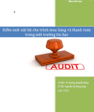 Đề án: Kiểm soát nội bộ chu trình mua hàng và thanh toán trong môi trường Tin học