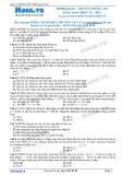 Chuyên đề LTĐH môn Vật lý: Truyền thông tin bằng sóng điện từ (Đề 1)