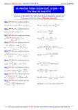 Luyện thi ĐH môn Toán: Phương trình lượng giác cơ bản (Phần 2) - Thầy Đặng Việt Hùng