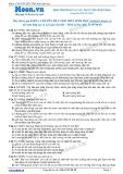 Chuyên đề LTĐH môn Sinh học: Môi trường và các nhân tố sinh thái