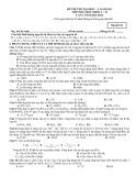 Đề thi thử Đại học môn Hóa học khối A, B lần 2 năm 2014 (Mã đề 153)