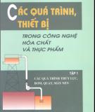 Ebook Các quá trình, thiết bị trong công nghệ hóa chất và thực phẩm (Tập 1): Phần 2 - GS.TSKH. Nguyễn Bin