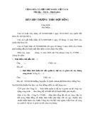 Mẫu biên bản thương thảo hợp đồng