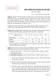 Đề tham khảo 1 môn Thống kê và phân tích số liệu
