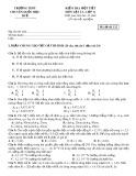 Kiểm tra 1 tiết môn Vật lý lớp 11(mã đề 132) - Trường THPT chuyên Quốc học Huế