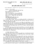 Mẫu Bản kiểm điểm Đảng viên - Trường THPT Trần Nhân Tông