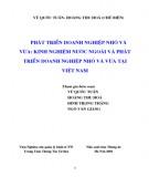 Ebook Phát triển doanh nghiệp nhỏ và vừa: Kinh nghiệm nước ngoài và phát triển doanh nghiệp nhỏ và vừa ở Việt Nam (Phần 1) - Vũ Quốc Tuấn, Hoàng Thu Hà (chủ biên)