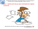 Bài giảng Bài 7: Những kỹ thuật SEO Copywriting trong Contens