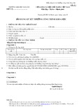 Mẫu Bản đăng ký xét thưởng công trình khoa học