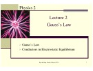 Physics 2 Lecture 2 Gauss's Law