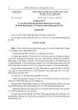 Nghị quyết số: 132/NQ-CP năm 2013