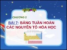 Bài giảng Hóa học Chương 2 - Bài 7: Bảng tuần hoàn các nguyên tố hóa học