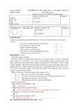 Đề kiểm tra giữa học kỳ 2 năm học 2009 - 2010 môn Tiếng Anh 8
