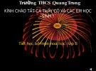 Bài giảng Hóa học lớp 8 Bài 37: Axit - Bazơ - Muối - THCS Quang Trung