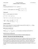 Cao học giải tích Chuyên đề: Định lí Viét và ứng dụng - Trương Văn Đại