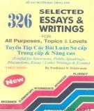 Ebook 326 selected essays & writings for all purposes, Topics & Levels (Tuyển tập các bài luận sơ cấp, trung cấp & nâng cao): Phần 2 - Srinivasan