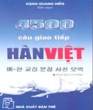 Ebook 4500 câu giao tiếp Hàn Việt: Phần 1 - Đặng Quang Hiển