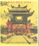 Văn hóa sử cương Việt Nam: Phần 2