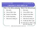 Bài giảng Lý thuyết máy điện: Chương 2A - Văn Thị Kiều Nhi