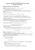 Tam giác trong các bài toán liên quan đến khảo sát hàm số