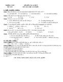 Đề kiểm tra 45 phút môn Hóa học lớp 10 (Cơ bản) - Trường THPT Phù Yên