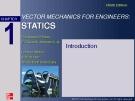 Vector mechanics for engineers: Statics (Chapter 1)