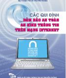 Ebook Các quy định bảo đảm an toàn an ninh thông tin trên mạng Internet - NXB Thông tin và Truyền thông