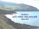 Bài giảng Địa chất biển đại cương - Phần 6: Quá trình tiến hóa đới ven bờ