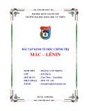 Bài tập Kinh tế học chính trị Mác - Lênin - ĐH Quốc gia Hà Nội