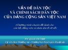 Bài giảng: Vấn đề dân tộc và chính sách dân tộc của Đảng Cộng sản Việt Nam - Quách Thị Tươi