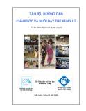 Tài liệu hướng dẫn chăm sóc và nuôi dạy trẻ vùng lũ (Tài liệu dành cho cô nuôi dạy trẻ vùng lũ)