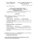 Quyết định của Đại hội đồng cổ đông công ty Cổ phần Truyền thông VV Việt Nam