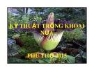 Bài giảng Kỹ thuật trồng khoai nứa