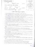 Đề thi Quản trị chất lượng - Trường ĐH Văn Lang