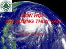Bài thuyết trình Khí tượng thủy văn: Nguyên nhân, tác động, biện pháp giảm nhẹ và thích ứng với biến đổi khí hậu
