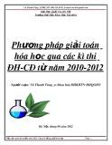 Phương pháp giải toán Hóa học qua các kì thi ĐH - CĐ từ năm 2010 - 2012
