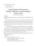 Đề thi và đáp án đề thi cuối học kì 2 năm học 2012-2013 môn Thiết kế và CNSX hàng dệt kim - ĐHBK TP.HCM
