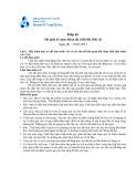 Đề thi giữa kì năm học 2012-2013 và đáp án môn Hoàn tất - ĐHBK TP.HCM
