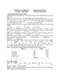 Đề kiểm tra học kì 1 môn Hóa học lớp 8 - THCS Đồng Nai