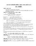 Chuyên đề: Bồi dưỡng học sinh giỏi toán đa thức