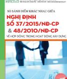 So sánh điểm khác nhau giữa Nghị định số 37/2015/NĐ-CP & 48/2010/NĐ-CP về hợp đồng trong hoạt động xây dựng - ThS. Nguyễn Thế Anh, ThS. Vũ Minh Hoàn