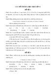 Các đề thi Hóa học học kì 2 lớp 11